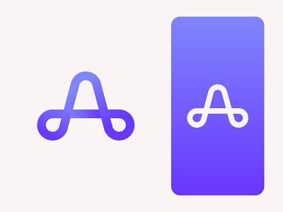 A Lettermark modern logo branding creative logo logotrend2021 gradientlogo lettermark modernlogo design bestlogo logoconcept startup logoprofesional logoinspire logoideas logoawesome