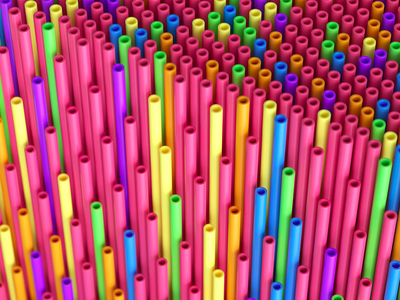straws illustration inspiration render c4d macro geometry pattern