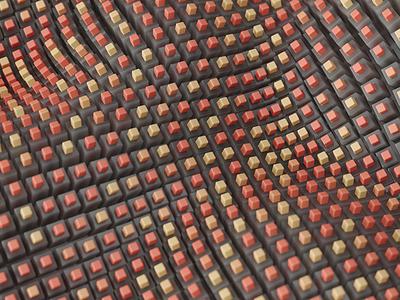 waves illustration inspiration render c4d macro geometry pattern