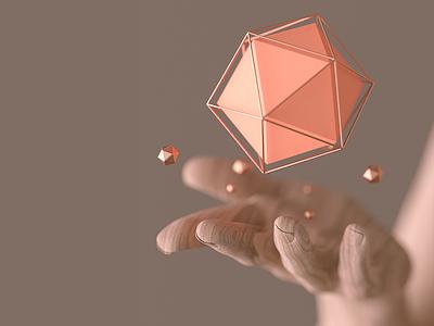 Offering illustration inspiration render c4d macro geometry magic photography