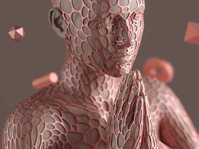 H△RMONY illustration inspiration render c4d macro geometry mesh model photography