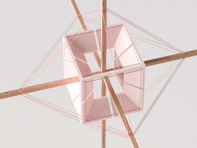 Tension illustration inspiration render c4d macro geometry lines object
