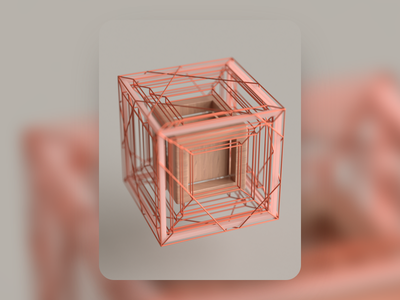 Individuality cube illustration inspiration render c4d macro geometry