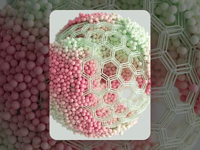 Color Blind geometry macro c4d render inspiration illustration sphere