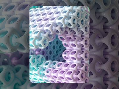 Interlokt geometry macro c4d render inspiration illustration