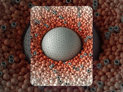 Dyson spheres circle geometry macro c4d render inspiration