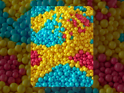 Ball Pit illustration inspiration render c4d macro spheres