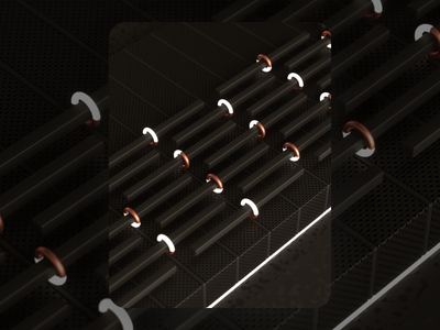 Exploring Aesthetic 01 copper black aesthetic geometry macro c4d render inspiration illustration
