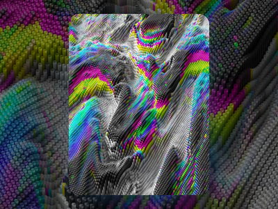 Instagram Collab chromatic colors trippy render 3d collab
