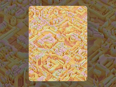 119 poster pattern colors texture voxel c4d render 3d