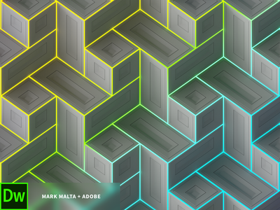 Adobe Collaboration pattern geometry splashscreen illustration render cinema4d adobe