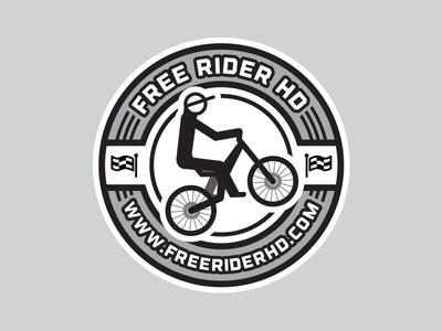 Free Rider HD Sticker