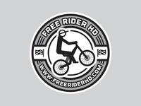 Free Rider HD Sticker