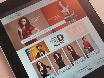 Bespoke Clothing Store e-commerce clothing homepage banner promos
