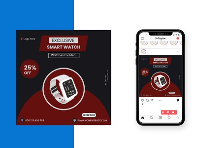 Exclusive Smart Watch Social Media Post Design soical banner creative best design typography social media post graphic design exclusive design best