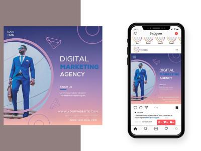 Digital Marketing Social Media Post Design digital marketing post marketing square banner design social banner graphic design banner design social media post digital marketing