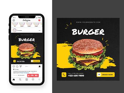 It's my new Burger Food Social Media Design facebook post instagram post best square banner graphic design ads banner social media post design