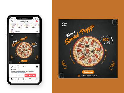 New Pizza Food Social Media Post Design social media post banner creative design facebook post insragram post square banner banner ads social media post