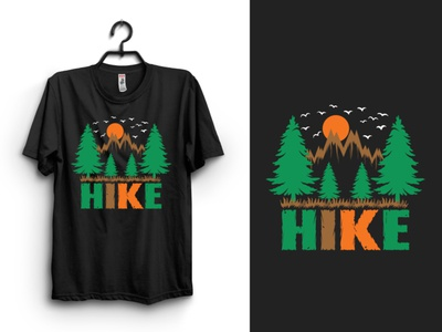 New HIKE T-shirt Design hike t-shirt designn typography t-shirt clothing tshirt t-shirt design print design graphic design
