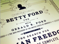 Letterpress first lady poster series 1/2