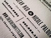 Back of Theatre Confetti Card