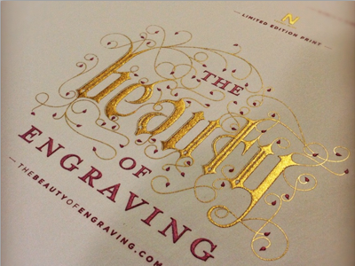 The Beauty of Engraving, BEING ENGRAVED