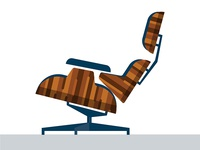 Eames lounge flat-packed