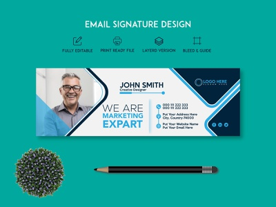 Professional Email Signature Template phone
