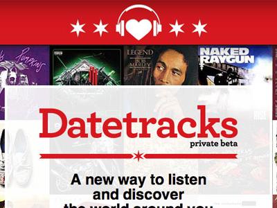 Datetracks web design