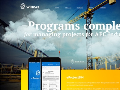 Programs complex for managing projects for AEC Industry строительство каталог responsive bootstrap ux ui bright design web design typography