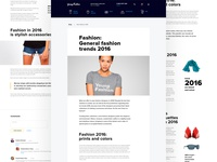 Blog design for Fashion e-commerce project