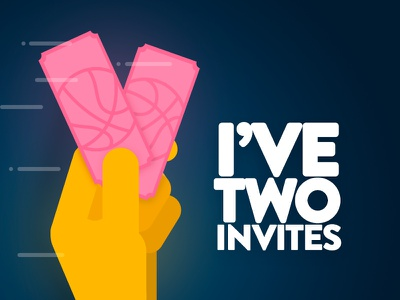 I have two dribble invitations! flat vector skech app illustrator illustration illustrations invite invites dribbble giveaway free