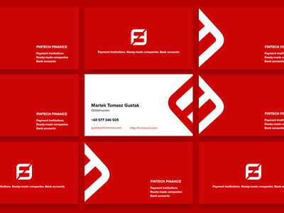 The business cards for Fintechfinance trainer speaker color nice styleguide logo business cards vector
