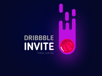 Invite for you flat vector skech app illustrator illustration illustrations free giveaway dribbble invites invite