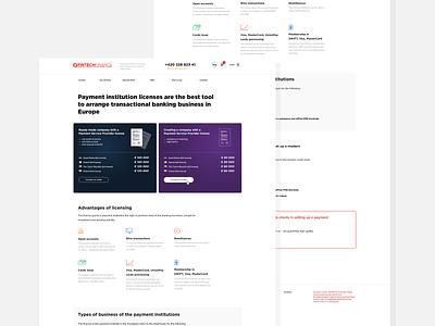 Fintech Finance license payment bank account bank card bank money finance fintech ux typography ui web design