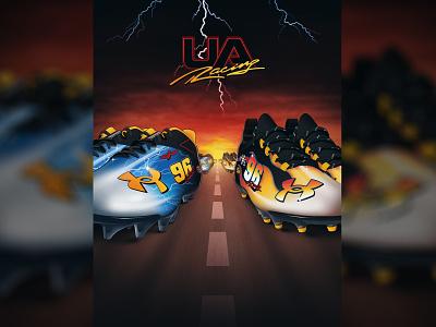 Under Armour Street Speed cleats fire lightning 90s racing nascar football adidas nike
