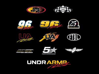 Under Armour Street Speed illustration typography 90s racing nascar logos sports adidas nike under armour
