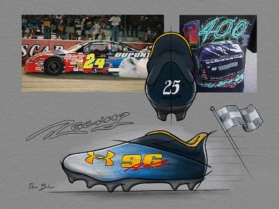 Under Armour Street Speed sports football racing nascar footwear illustration sketch adidas nike under armour