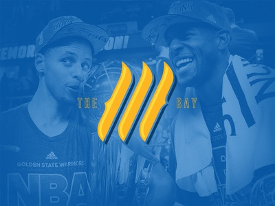 Land of The Three sports history playoffs basketball nba warriors golden state logo daily