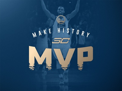 Steph Curry MVP curry steph mvp sports history playoffs basketball nba warriors golden state logo daily