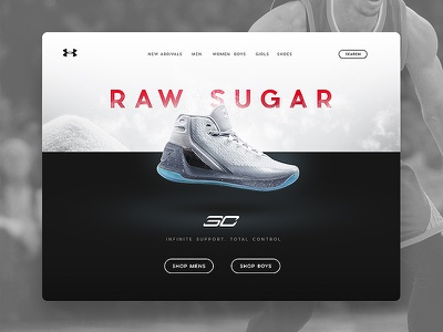 Curry 3 UI sugar typography adidas nike shoes ui daily ui under armour curry steph