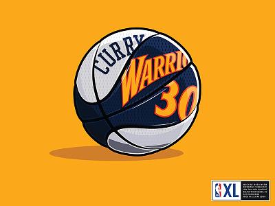 Warriors Throwback Basketball sports illustration adidas nike throwback curry basketball nba
