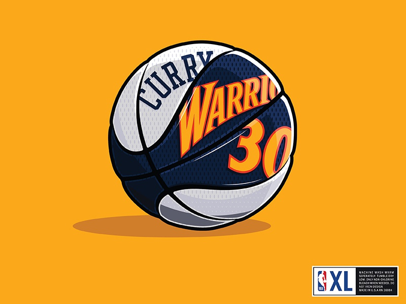 buy online 9f245 2a272 Warriors Throwback Basketball by Christian English on Dribbble