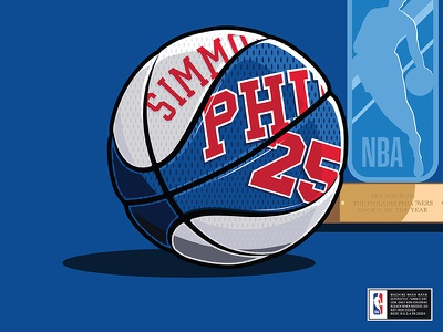 76ers Throwback sports illustration adidas nike throwback ben simmons basketball nba