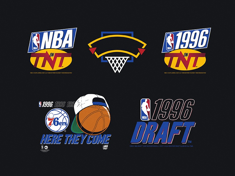 The 1996 NBA Draft sports draft illustration adidas nike 90s vintage basketball nba