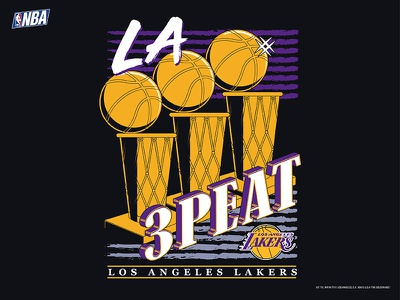 The Lake-Show deadstock sports draft illustration adidas nike 90s vintage lakers basketball nba