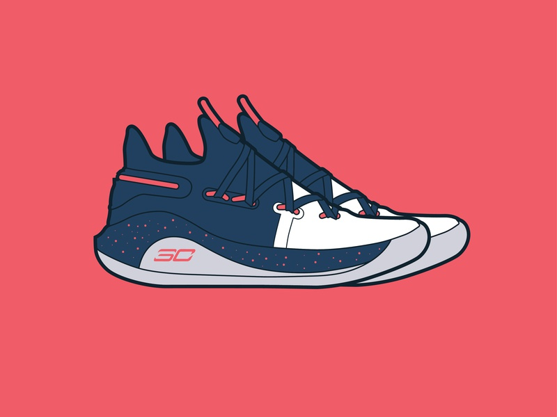Curry 6 Splash Party illustration curry under armour sneakers shoes basketball nba steph curry