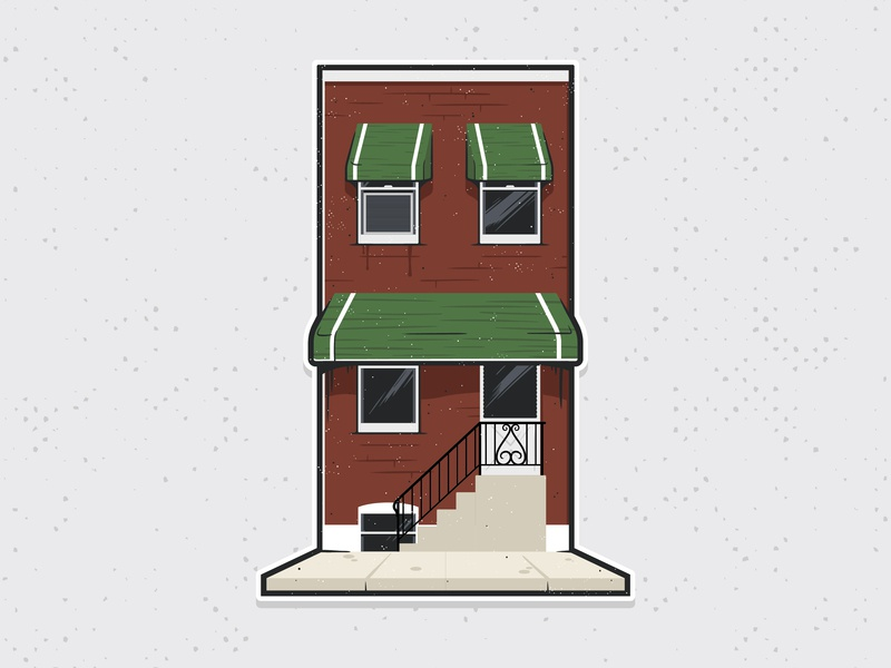 Philly Row Home philly city illustration row home philadelphia