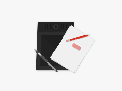 Illustration Symbol wacom pen pencil rubber paper illustration