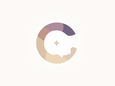 Changes Logo face cross purple change gradient calm relaxed